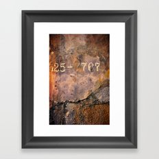 Cement Numbers Framed Art Print