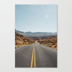 On the Desert Road Canvas Print