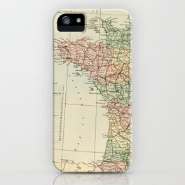 Old Map of the West of France iPhone Case