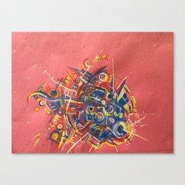 My Brain's a Machine Canvas Print