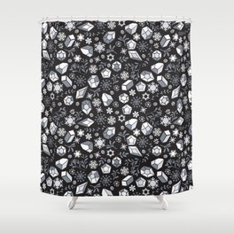 Winter diamonds Shower Curtain