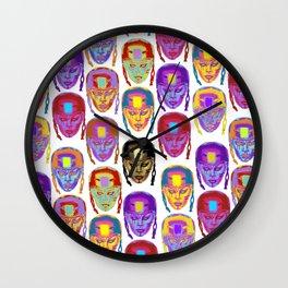 Roller Derby Girl Pattern Wall Clock