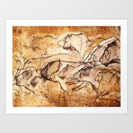 Panel of Lions // Chauvet Cave Art Print