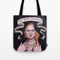 sansa stark Tote Bags featuring Sansa by Sara Meseguer
