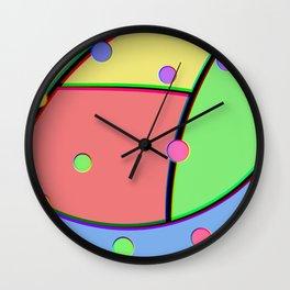 Technicolor Wall Clock