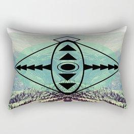 Mountians and Print Rectangular Pillow