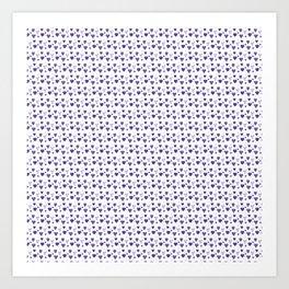 Purple Heart Pattern Art Print
