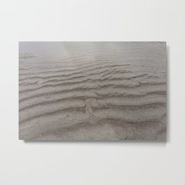 Ripples of Sand at the Shore Metal Print