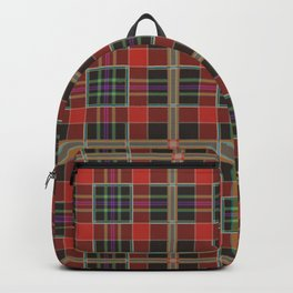 Red hipster plaid Backpack