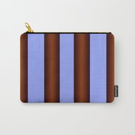 Bright Blue Brown Stripes Background Carry-All Pouch