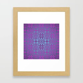 70's style Celtic Knotwork V2 Framed Art Print