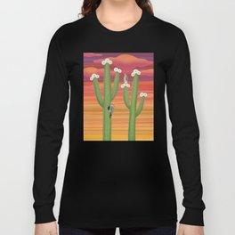 gila woodpeckers on saguaro cactus Long Sleeve T-shirt