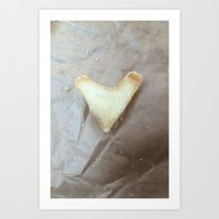 V for French Fry victory Art Print