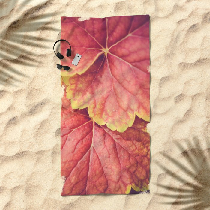 Two Leaves Beach Towel