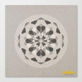 Mandala no.1 Grey Canvas Print