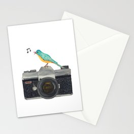 Watch the birdie Stationery Cards