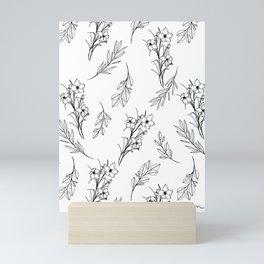 Floral Illustration Scatter Mini Art Print