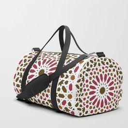 -A1- Red Traditional Moroccan Zellij Artwork. Duffle Bag