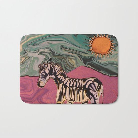 Zebra on Mars Bath Mat
