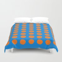 polka Duvet Covers featuring Polka  by Ruth Shaffer Art and Designs