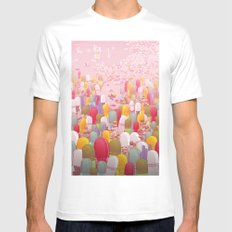 Society of Pills White SMALL Mens Fitted Tee