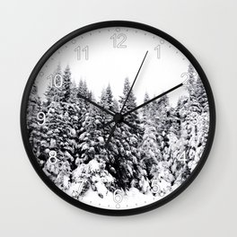 Snow Day Has Come Wall Clock