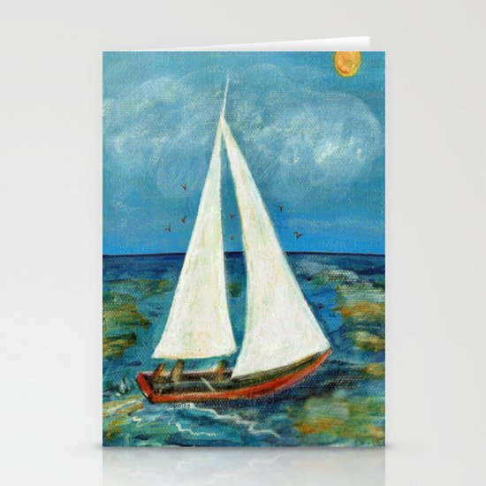 A Day at Sea Stationery Cards