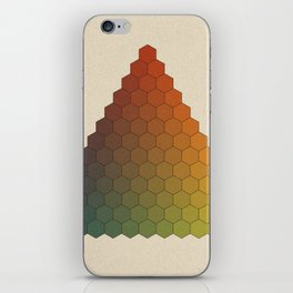 Lichtenberg-Mayer Colour Triangle vintage variation, Remake of Mayers original idea of 12 chambers iPhone Skin