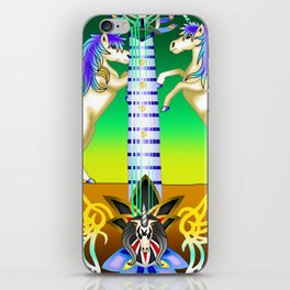 Fusion Keyblade Guitar #57 - Unicornis' Keyblade & Ultima Weapon iPhone Skin