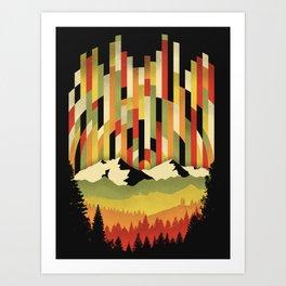 Sunset in Vertical Art Print