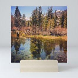 Fly Fishing in the Eastern Sierras Mini Art Print