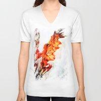 artsy V-neck T-shirts featuring gladioli Artsy by Artsy Arts By Rosanna.