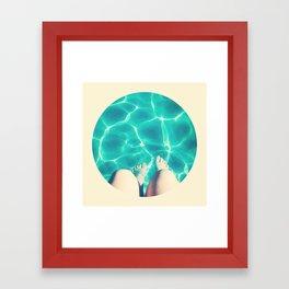 turquoise waves Framed Art Print
