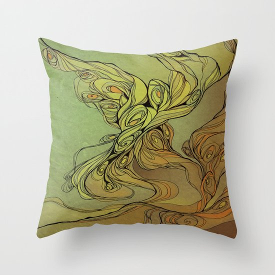 abstract floral composition Throw Pillow