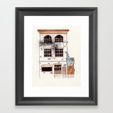 But the sun shined there Framed Art Print