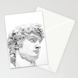 Profile of David statue by Miguel Angel Stationery Cards