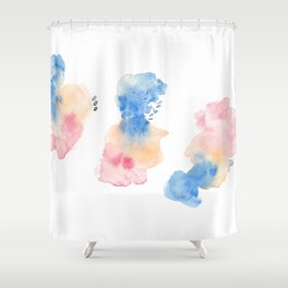 180807 Abstract Watercolour 3 | Colorful Abstract |Modern Watercolor Art Shower Curtain