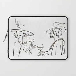 Abstract retro portrait of man and woman Laptop Sleeve