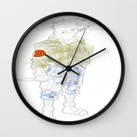 kakashi Wall Clocks featuring Kakashi Hatake by March Hunger