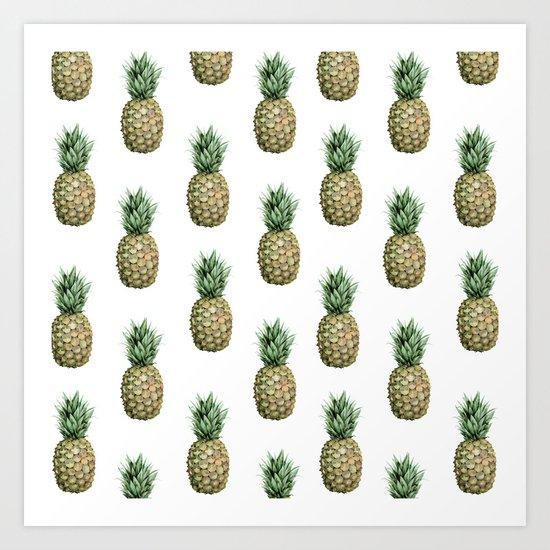 Classic Pineapple Pattern Art Print