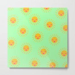 Litle Sunshine (mint) Metal Print