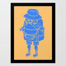 Backpacker Art Print