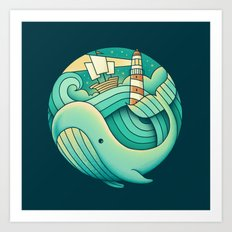 Into the Ocean Art Print