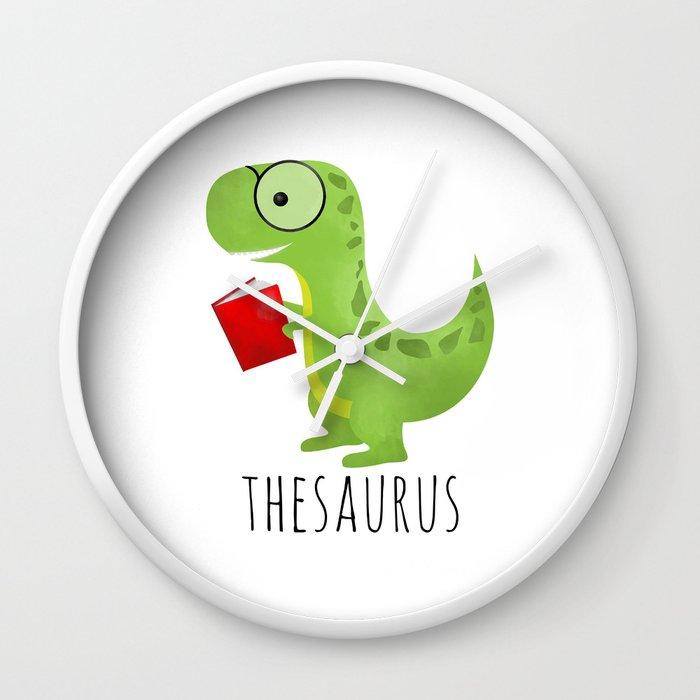 Thesaurus Wall Clock by avenger | Society6
