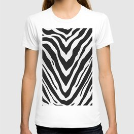 Zebra Stripes in Black and White T-shirt