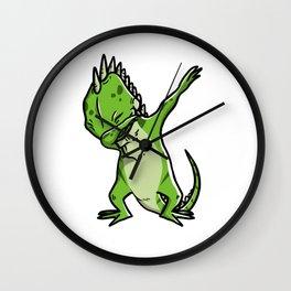 Funny Dabbing Iguana Reptile Dab Dance Wall Clock