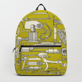 fiendish incisions chartreuse Backpack