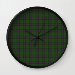 Armstrong Clan Tartan from 1842 Wall Clock