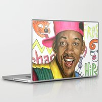 fresh prince Laptop & iPad Skins featuring Fresh Prince of Bel Air - Will Smith by Heather Buchanan