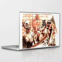 silent hill Laptop & iPad Skins featuring Silent Hill by Joseph Silver